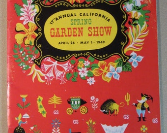 Vintage April 26-May 1949 17th Annual California Spring Garden Show