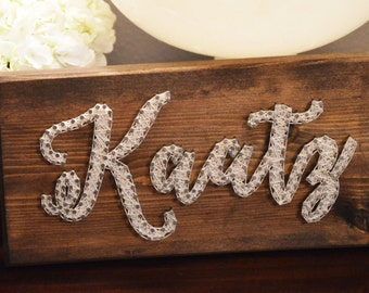 MADE TO ORDER: Custom String Art Personalized Sign - Home Decor - Small