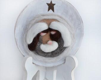 Nativity Scene - Christmas Nativity - Felted Nativity