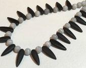 Matte Black Onyx Daggers Necklace