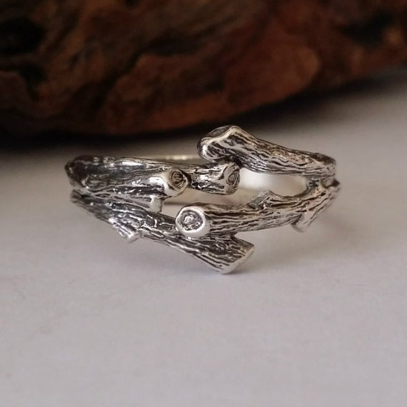 branch wedding ring mens branch wedding band twig engagement ring sterling 2055