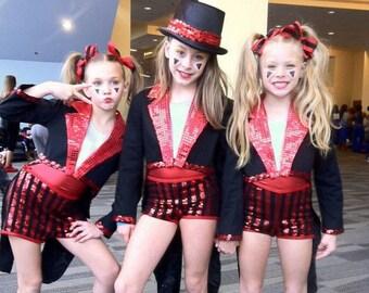 Child's Circus Ringmaster Jacket Dance Costume - Sizes 4 to 14 - Dance Costume, Photo Prop, Wedding, Birthday, Halloween, Carnival, Circus