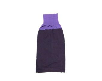 Big Dog Clothing, Large Merino Wool Purple Striped Designer Dog Sweater, Puppy Pet Apparel 0288