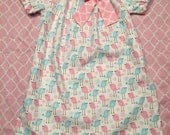 Girls Easter Dress - Pink Blue Little Birds 0 3 6 12 18 24 2T 3T 4T 5/6 7/8 Brother Sister Sibling Spring Summer Outfit Separate Tie