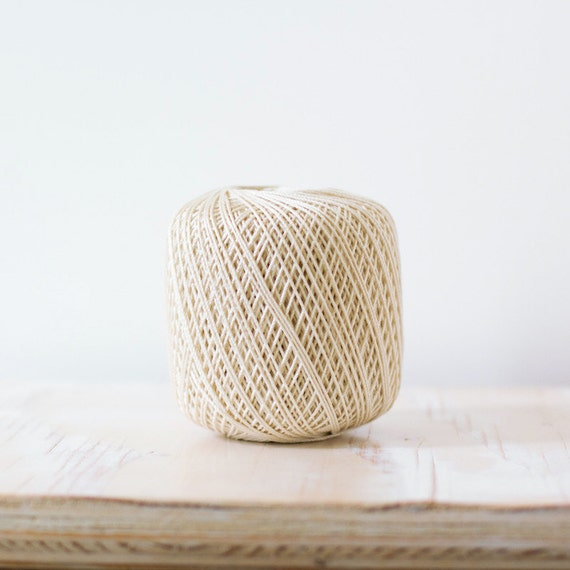 Natural Ivory Cotton Twine - 150 yards