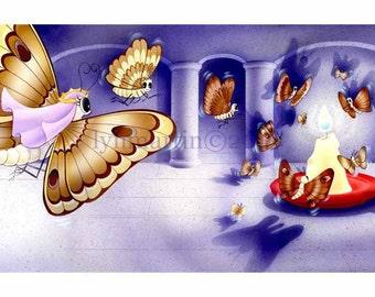 ORIGINAL WATERCOLOR PAINTING art for children's book