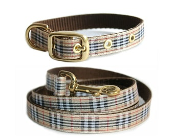 Preppy Dog Collar and Leash