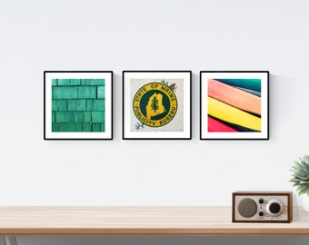nautical decor // nautical prints // maine wall art print set // - set of maine nautical photography prints