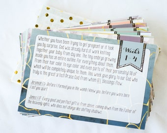 Pregnancy Prayer Cards (Printed Set of Cards)