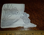 4 House Mouse Fish Bowl Cutouts from House Mouse Stampa Rosa Rubber Stamps