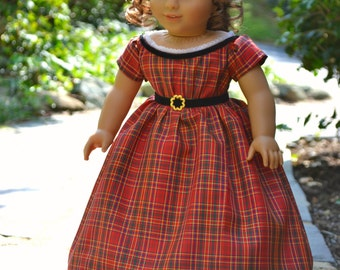 Doll Dress Civil War Victorian Christmas Gown for American Girl 18 inch doll