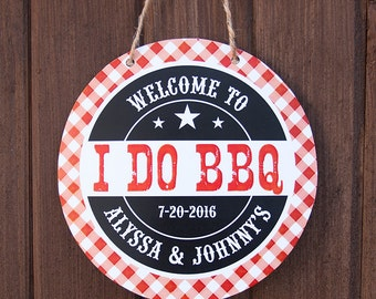I Do BBQ Door Sign, I Do BBQ Couples Shower, Printable Pdf File, Personalized