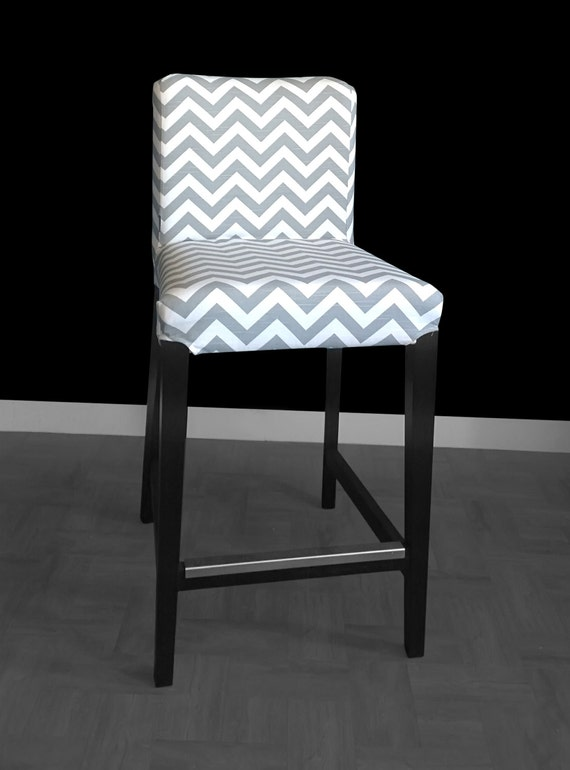 housse de tabouret ikea henriksdal chevron gris. Black Bedroom Furniture Sets. Home Design Ideas