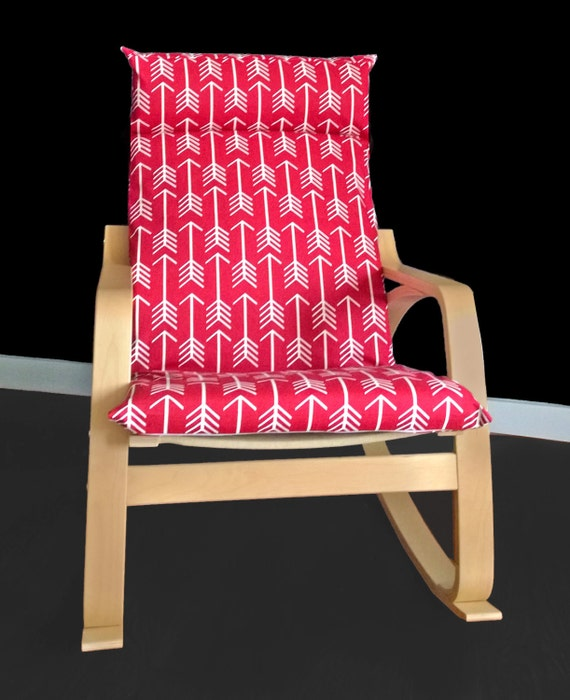Red arrows poang chair cover - Red poang chair ...
