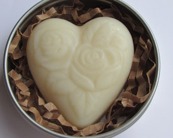 Solid Shea Butter Lotion Bar in Tin - Heart