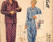 Nice Vintage 1940s McCall 4476 Men's Button-Front Pajamas Sewing Pattern Size Medium 38-40