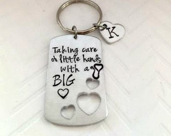 Nurse graduation gift -Nurse Key Chain - personalized nurse gift - Christmas Gift idea - Custom Nurse - Hand Stamped Gift - The Charmed Wife