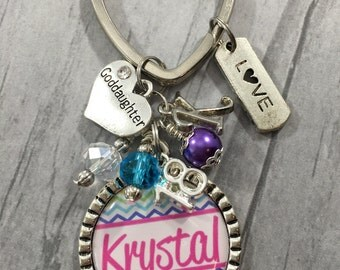 Eighteenth Birthday Gift, GODDAUGHTER Key Chain, Teen Birthday, First Car / 18th Birthday / Daughter / Granddaughter / Niece /