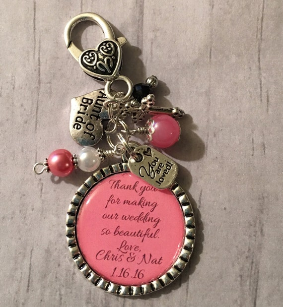 Wedding Gift For Aunt: Aunt Of The Bride Gift Wedding Key Chain By