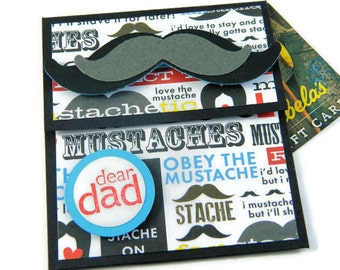 Fathers Day Cards - Gift For Dad - Gift Card Holders - Credit Card Sleeve - Fathers Day Ideas - Money Gifts For Him - Dads Gift