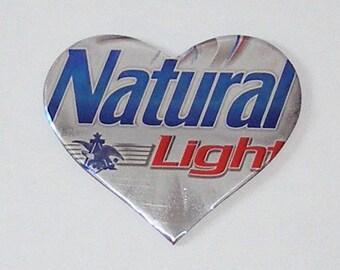 1 Heart Magnet - Natural Light Beer Can