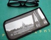 Eyeglass Case with Vintage Photo: US Capitol through Tour Bus Windshield, c. 1940