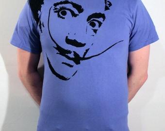 Salvador Dali ICON T-Shirt - Periwinkle, Size M