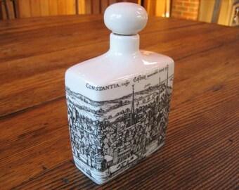 Altenkunstadt German Ceramic Decanter Bottle Corked Top Pen Ink Illustrated Map