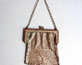 Antique Mesh Coin Purse, Metal Purse, Silver Tone Purse, Vintage Coin Purse, Mesh Purse, Change Purse