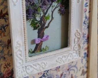 "Framed picture ""Tree"". Handmade. Dollhouse at 1/12th scale"