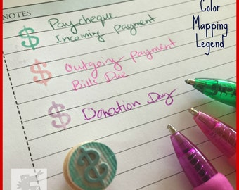 Pay Day Planner Stamp - Map your Stamps - Dollar Sign icon for financial planning