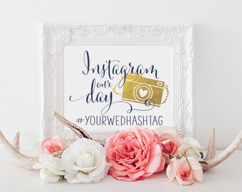 Instagram Wedding Sign   Personalized Wedding Sign   Wedding Printable Sign   DIY Wedding Decor   Quick Turnaround DIY Print