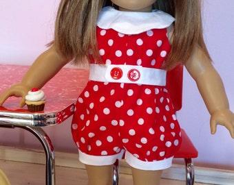 18 inch Doll RETRO Romper