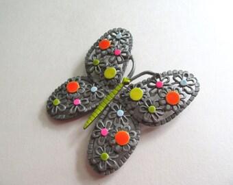 Butterfly Pin Mod 1960s ART signed Arthur Pepper Neon Brooch Jewelry Boho Butterflies Signed Vintage Costume Jewelry MoonlightMartini