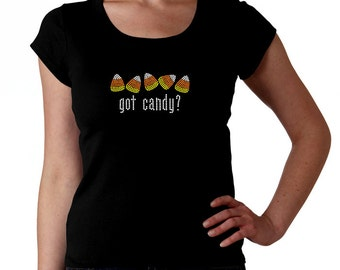 Got Candy Halloween RHINESTONE t-shirt tank top sweatshirt S M L XL 2XL - Corn