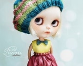 SATURDAY'S FUN Beret For Blythe By Odd Princess Atelier, Hand Knitted Hat