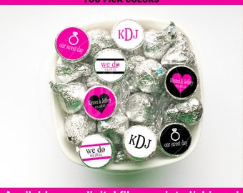 Wedding Chocolate Kiss Stickers - Engagement Candy Kiss Stickers - Wedding Candy Stickers - Digital & Shipped Available