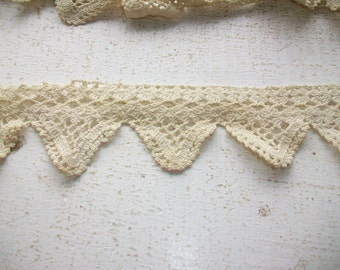 """Vintage Lace Trim Piece 46"""" Sewing Supply"""