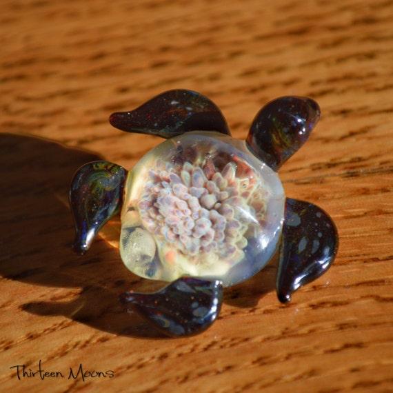 Amazon Boro Sea Turtle Pendant -  Thirteen Moons