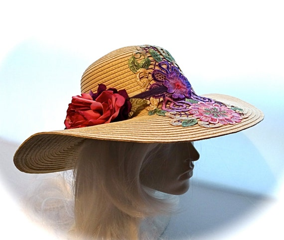 Womens Sun Hat Mother Of The Bride Garden Party Hats DH-140
