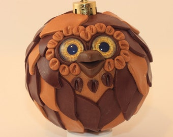 Reese - Polymer Clay Owl Ornament