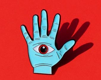 Eye See You Enamel Pin