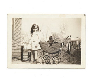 Oh My Baby doll buggy snapshot portrait vernacular photography found photo social realism