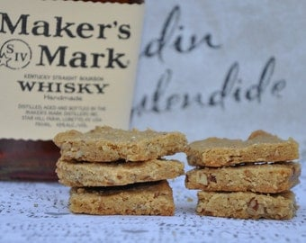 Edible Gift Cookies  Pecan KY  Bourbon Shortbread Brown Sugar  Double Baked Holiday