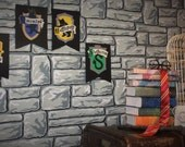 HARRY POTTER Party Decor HOGWARTS House Wall Banners - Gryffindor, Slytherin, Ravenclaw, Hufflepuff House Crest Flags