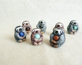 Sloth figurine or necklace. Sloth totem with healing crystal for your wellness!
