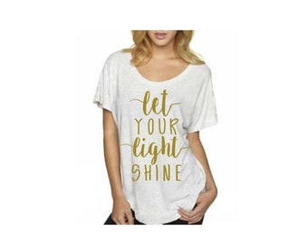 Let Your Light Shine graphic tee