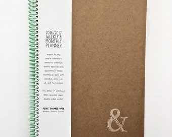 2017 Weekly & Monthly Planner LARGE | 12 Months | Agenda