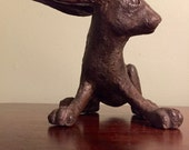 Hazel , Ceramic Metal Coated Rabbit on Guard