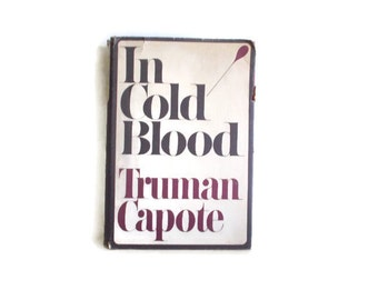 In Cold Blood Truman Capote Random House 1965 1st Printing 1st Edition Book Club Edition